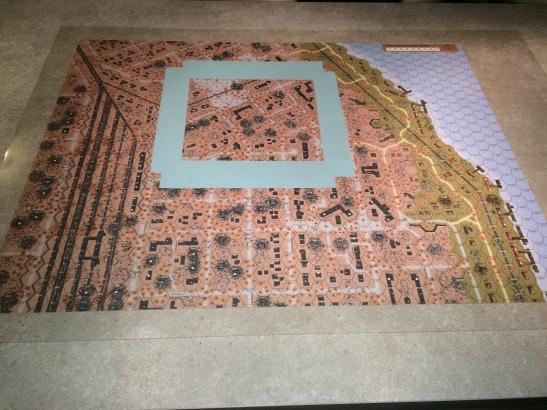 Carte nord, le scénario se joue dans la partie délimitée.